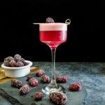 Blackberry Sunset Whiskey Sour - Quarantine Cocktail
