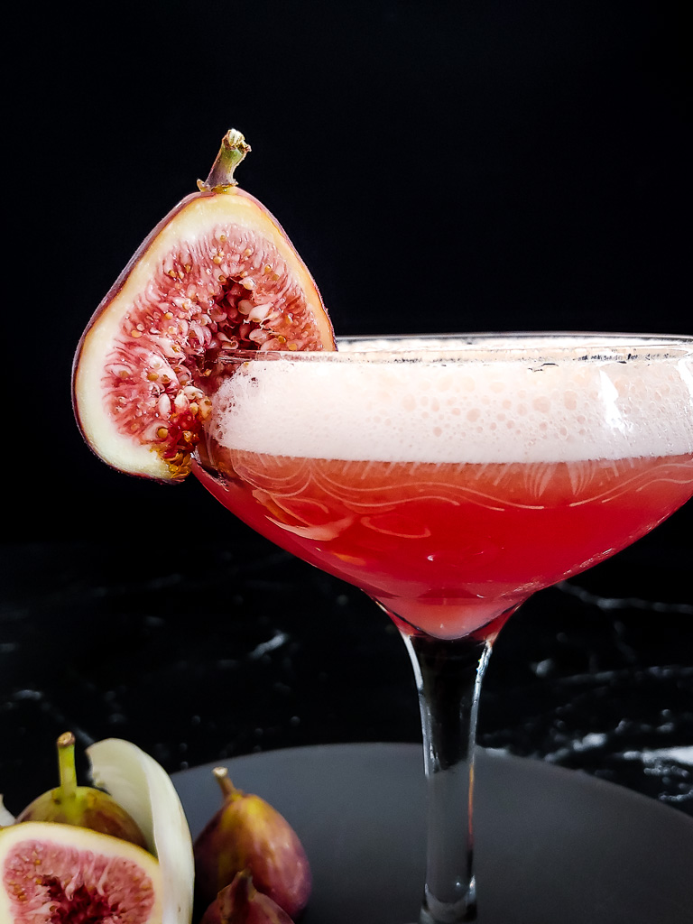Fig and Fennel Sour with Fig garnish