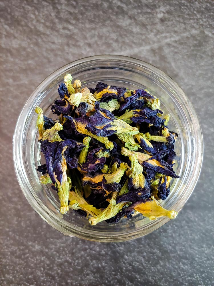 bowl of butterfly pea flower
