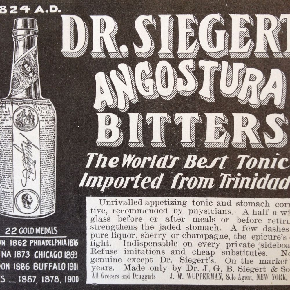 picture of angostura bitters advertisement from the 1800s