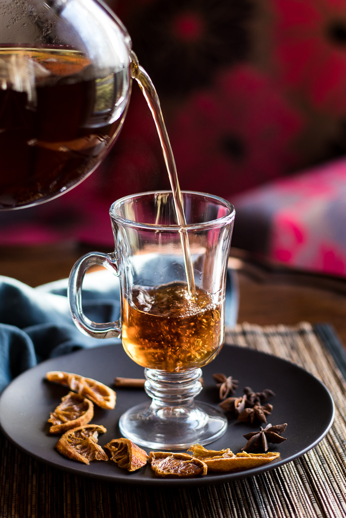 Pour tea into the Indian Hot Buttered Rum
