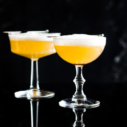 Suze Sour - two in coupe glasses