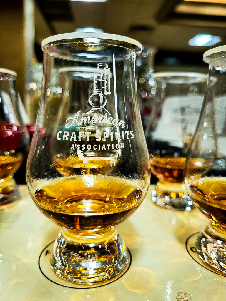 glencairn glass with whiskey at a whiskey competition
